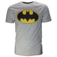 SETINO Pánske tričko krátky rukáv Batman - sivá - 2XL