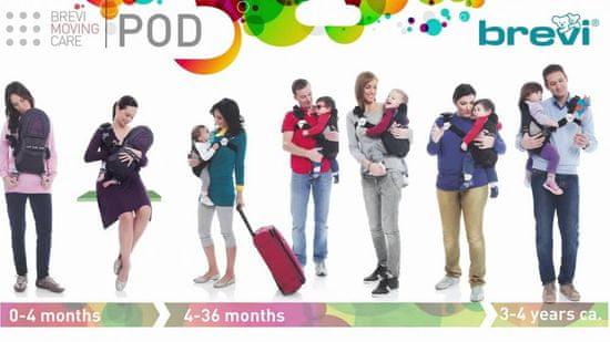 Brevi POD Nosilka za dojenčke od 0m do 4 leta, 233, rdeča
