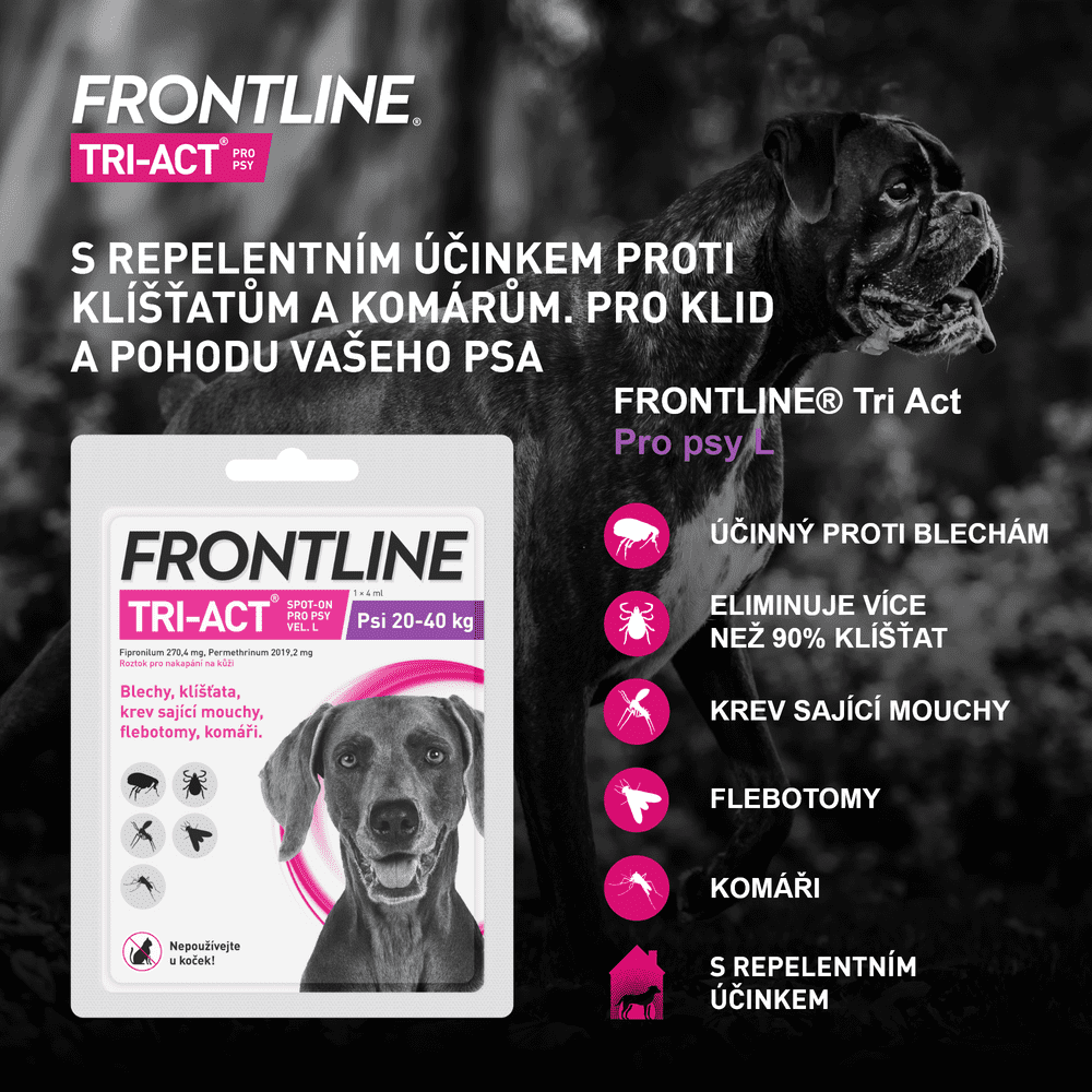 Frontline TRI-ACT spot on Dog XL 6 ml