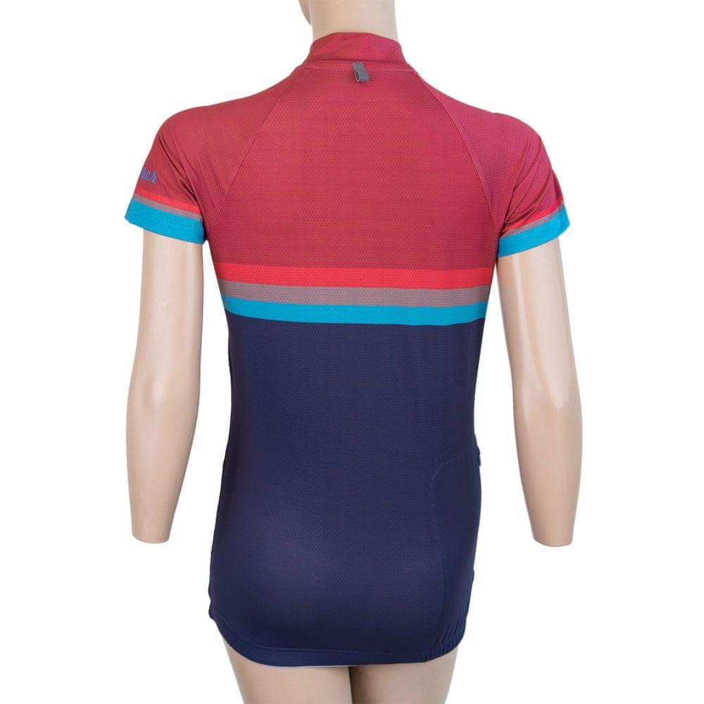 Sensor Cyklo Summer Stripe dámský dres kr.rukáv modrá/lilla -L