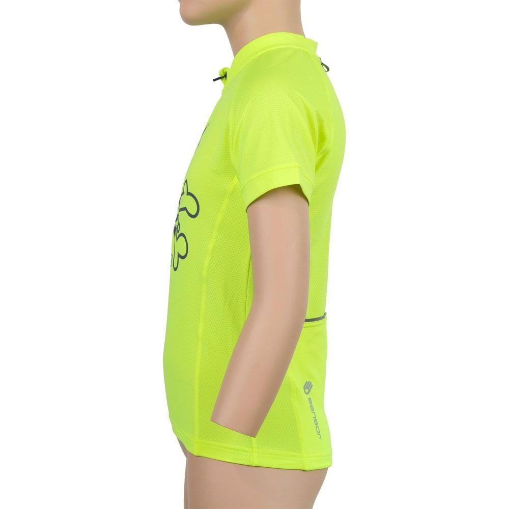 Sensor Cyklo Entry dětský dres kr.rukáv reflex žlutá Clown -150