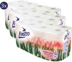 LINTEO toaletný papier Jaro 3x 16 rolí, 3 vrstvový, biely