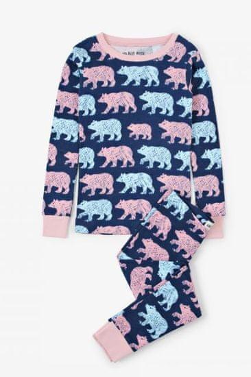 Little Blue House Cottage Bears otroška pižama