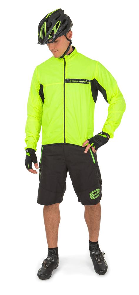 Etape Biker Černá/Žlutá Fluo Mat S/M