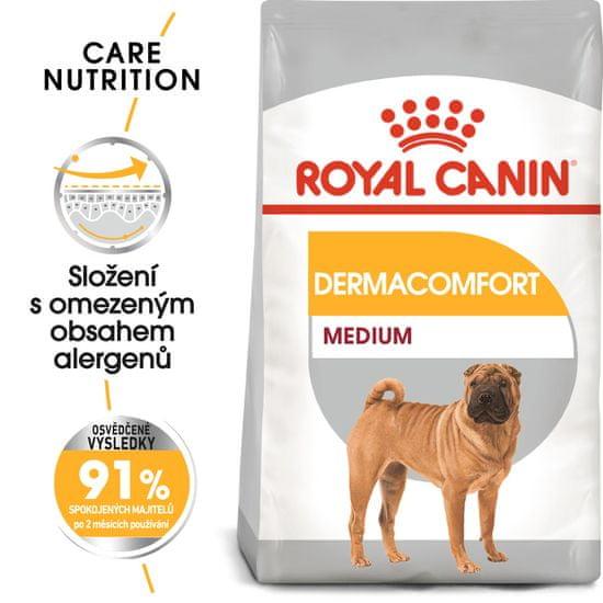 Royal Canin Medium Dermacomfort pasji briketi za srednje pasme, 3 kg
