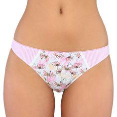 Lama Dámské kalhotky string L-989ST bílá-růžová S