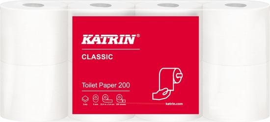 Katrin Papír toaletní Classic 160 útržků, 3-vrstvý bílý / 16 ks