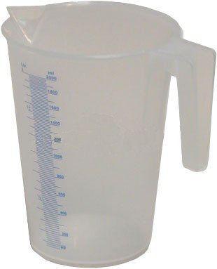 MATO Priehľadná polypropylénová odmerná nádobka 0,5 l
