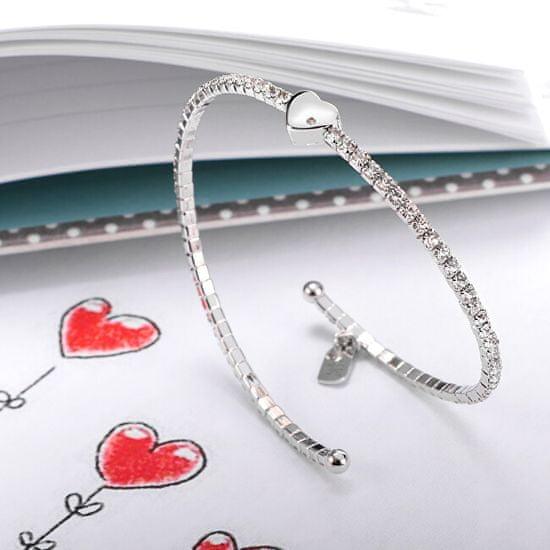 La Petite Story Błyszczące bransoletka Serce LPS05AQC01