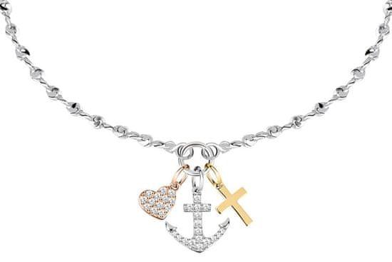 La Petite Story Stal trójkolorowa bransoletka miłość, wiara, nadzieja LPS05AQA03