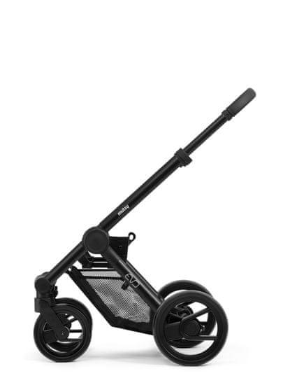 MUTSY EVO kompletní kočárek Grip Grey Frame Black Black Wheels 2020/Bold Warm Grey