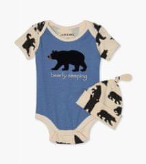 Little Blue House detské body s čiapočkou Black Bears 68 - 80 viacfarebná
