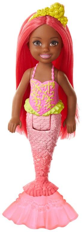 Mattel Barbie Chelsea mořská panna červené vlasy