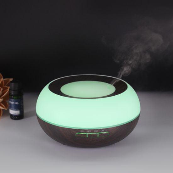 """GOLDSUN Dyfuzor zapachowy Aroma """"Sun Light 300ml"""" odświeżacz powietrza i nawilżaczem - Temno drewno"""