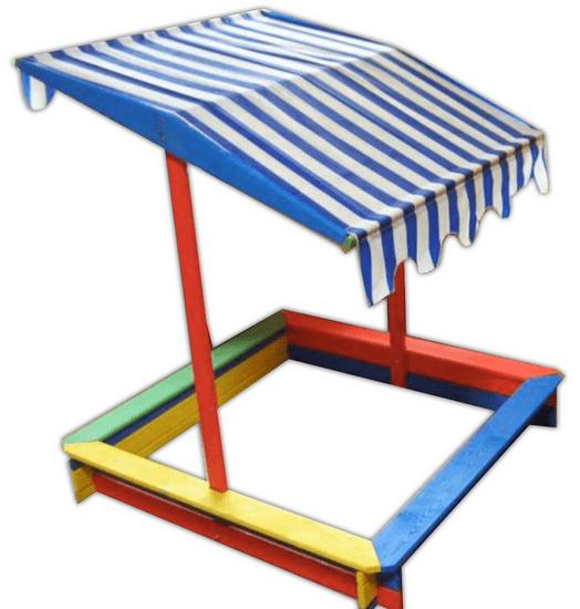 Rojaplast Detské farebné pieskovisko so strieškou