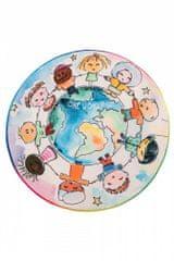Obsession Detský kusový koberec Juno 477 World Map kruh 80x80 (průměr) kruh