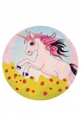 Obsession Detský kusový koberec Juno 478 Unicorn kruh 80x80 (průměr) kruh