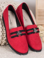 Női balerina cipő 62117 + Nőin zokni Gatta Calzino Strech, piros árnyalat, 36