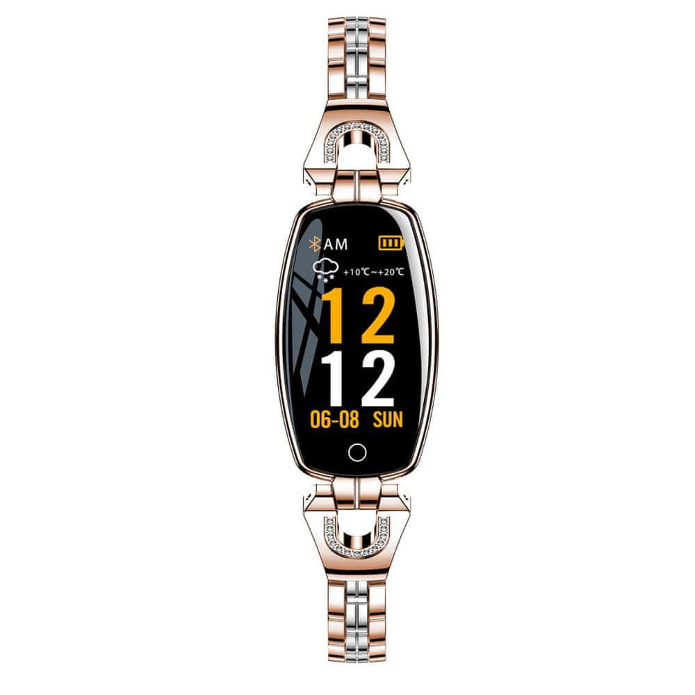 NEOGO SmartWatch Heart 8, dámské chytré hodinky, růžově zlaté