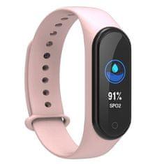 NEOGO SmartBand MS4, pametna zapestnica, roza