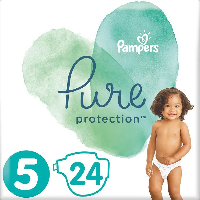 Pampers Pure Protection 5 (11-16 kg) 24 ks