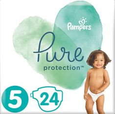 Pampers plenice Pure Protection 5 (11-16 kg) 24 kosov