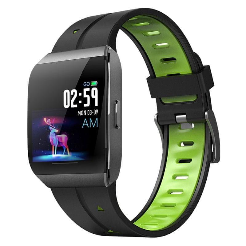 NEOGO SmartWatch XS1, chytré hodinky, černé/zelené