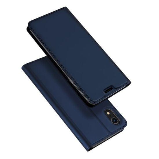 Dux Ducis Skin Pro usnjeni flip ovitek za iPhone XR, modra