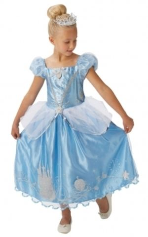 Rubie's Disney: Popelka s třpytivými ozdobami a korunkou - vel. S