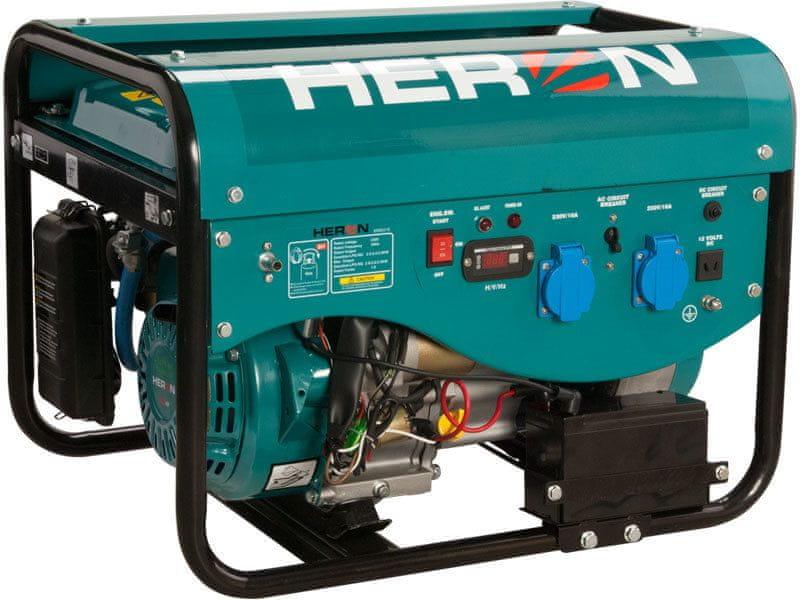 Heron Elektrocentrála benzínová a plynová (LGP/NG) 6,3HP/2,4kW, elektrický start, záruka 3 roky