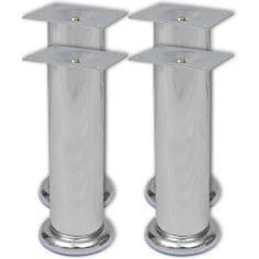 shumee 4 okrúhle nohy na pohovku, chrómové, 180 mm