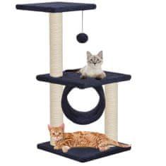 Greatstore Škrabadlo pro kočky se sisalovými sloupky 65 cm tmavě modré