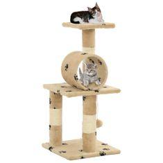 Vidaxl Škrabadlo pro kočky sisalové sloupky 65 cm béžové s tlapkami
