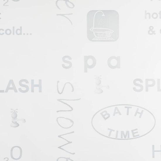 Greatstore Sprchová roleta, 100x240 cm, vzor slov