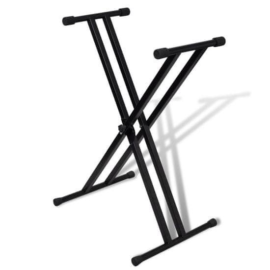 shumee Statyw pod keyboard, podwójny, regulowana wysokość, kształt X