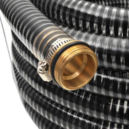 shumee Sesalna cev z medeninastimi nastavki 3 m 25 mm črne barve