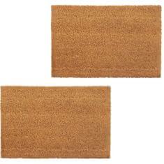 shumee Rohožky, 2 ks, kokosové vlákno, 17 mm, 50x80 cm, prírodná farba