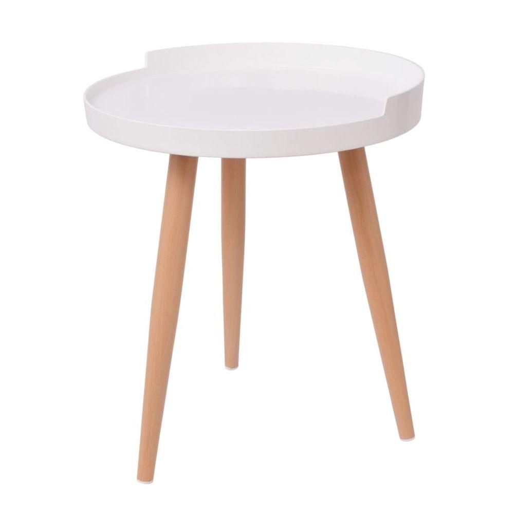 Vidaxl Konferenční stolek s podnosem kulatý 40x45,5 cm bílý