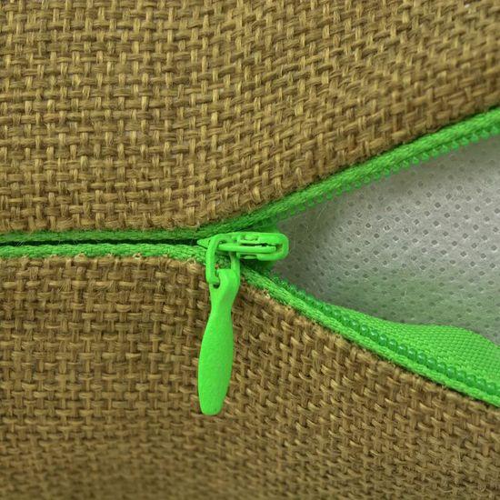 shumee Prevleke za Blazine 4 kosi Videz Platna Zelene 80x80 cm