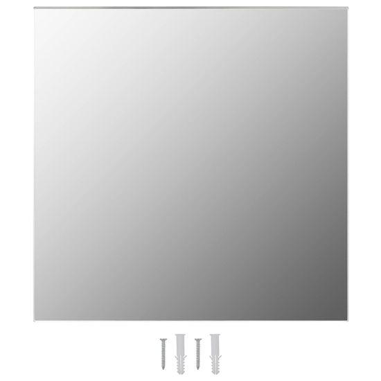 shumee Stensko ogledalo 50x50 cm kvadratno steklo