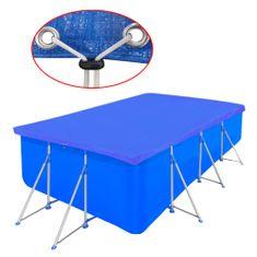 shumee Pravokotno pokrivalo za bazene PE 90 g/m2 394 x 207 cm