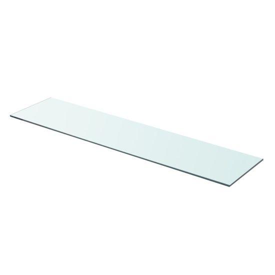 shumee Półka szklana, bezbarwny panel, 90x20 cm