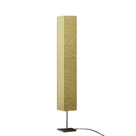 shumee Stoječa Svetilka Kvadratne Oblike, Kremne Barve 170 cm