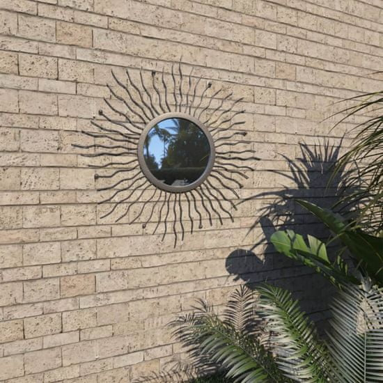 shumee fekete kerti falitükör napsütésszerű dizájnnal 60 cm