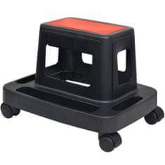 shumee Vrtljiv stolček za delavnico s prostorom za shranjevanje 150 kg