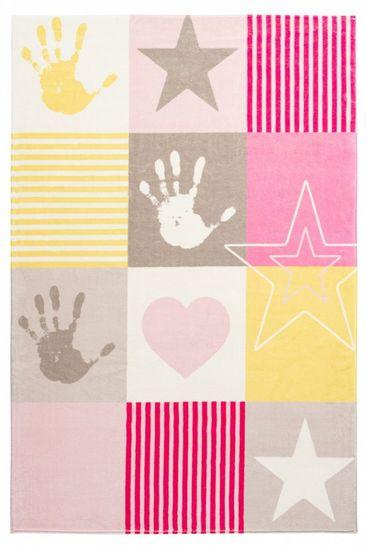 Obsession Dětský kusový koberec Stars 411 pink