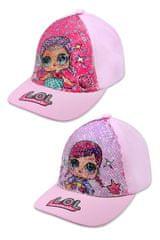 """SETINO Lány baseball sapka """"LOL"""" flitterekkel - világos rózsaszín - 52 cm"""
