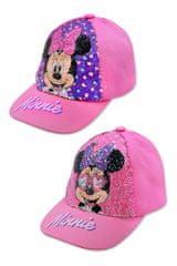 """SETINO Dziewczęca czapka z daszkiem """"Myszka Minnie"""" z cekinami - jasnoróżowy - 52 cm"""