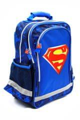 """SETINO Fiú iskolatáska """"Superman"""" - kék - 37 x 29 x 13 cm"""