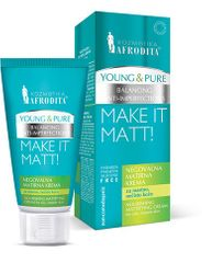 Kozmetika Afrodita Young & Pure negovalna matirna krema, 50 ml